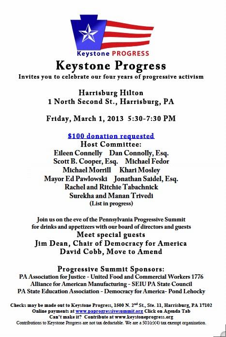 Keystone Progress fundraiser