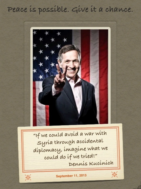 Kucinich on diplomacy