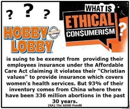 Hobby Lobby v. ethical consumerism